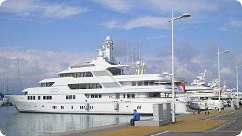 Superyachts in Antibes
