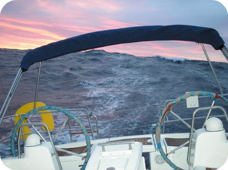 Big seas on a Mediterranean yacht delivery