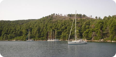 Ormos Panormou on Nisos Skopelos, Greek Sporades
