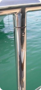 stainless steel boat railing