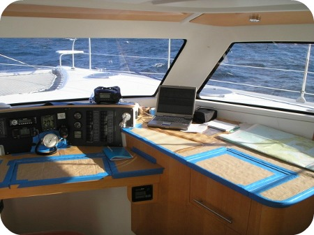 Protected interior during yacht delivery